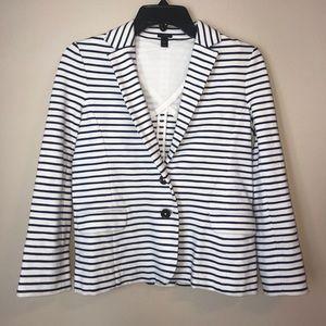 J.Crew stripped blazer jacket navy and white